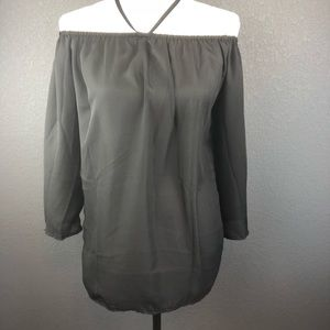Tops - Black Sheer Blouse Sz Medium